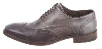 John Varvatos Leather Wingtip Oxfords grey Leather Wingtip Oxfords