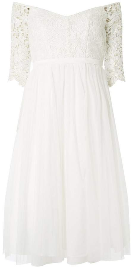 **Showcase White Bonita Bridal Bardot Dress