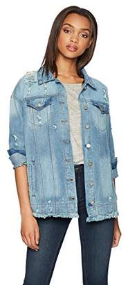 William Rast Women's Trucker Denim Jacket with Embroidery