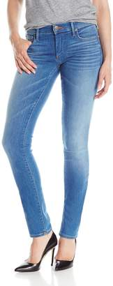 True Religion Women's Cora Mid Rise Straight 34 Inch Jean