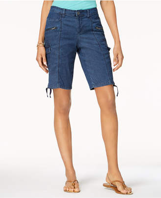 Style&Co. Style & Co Petite Chambray Cargo Shorts, Created for Macy's