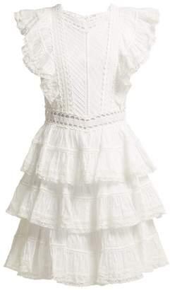 Zimmermann Juniper Tiered Pintucked Cotton Dress - Womens - Ivory
