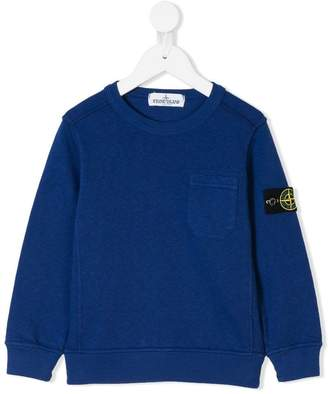 Stone Island Junior patch pocket detail sweatshirt