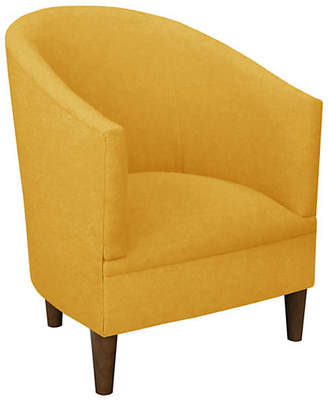 One Kings Lane Ashlee Barrel Accent Chair - Yellow Linen