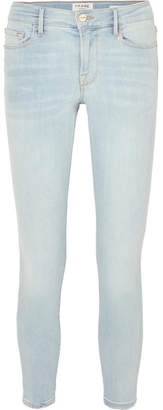 Frame Le Skinny De Jeanne Cropped Mid-rise Jeans - Light denim