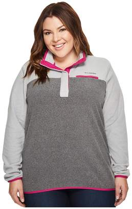 Columbia Plus Size Mountain Side Pullover Women's Long Sleeve Pullover