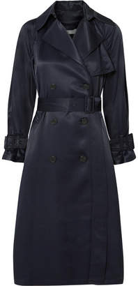 Vince Satin Trench Coat - Navy