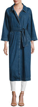 MiH Jeans Belted Long Denim Coat