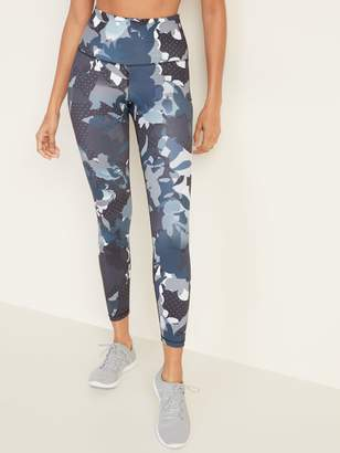 Old Navy High-Waisted Printed Elevate 7/8-Length Compression Leggings for Women