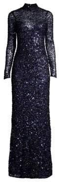 Parker Black Leandra Sequin Mockneck Gown
