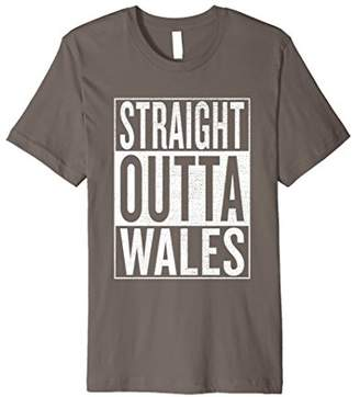 IDEA Straight Outta Wales Great Travel & Gift T-Shirt