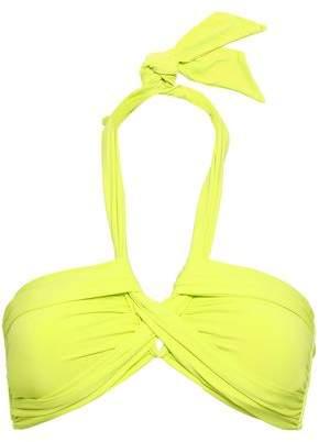 Seafolly Twist-front Neon Halterneck Bikin Top