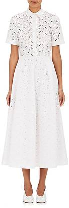 Co Women's Embroidered Cotton Eyelet Midi-Shirtdress $875 thestylecure.com