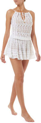 Melissa Odabash Zoe Sleeveless Lace Short Coverup Dress
