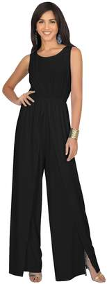 b3aa6353607 at Amazon Canada · Koh Koh Womens Sleeveless Cocktail Wide Leg Casual Cute  Long Pants One Piece Jumpsuit Jumpsuits Pant