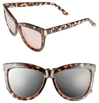 Junior Women's Bp. 58Mm Mirror Cat Eye Sunglasses - Rose Gold/ Tort $12 thestylecure.com