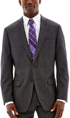 Claiborne Charcoal Herringbone Stretch Suit Jacket - Classic Fit