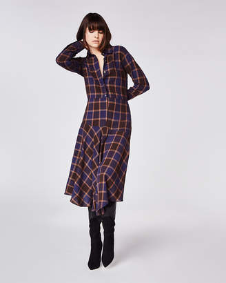 Nicole Miller Boyfriend Plaid Dress