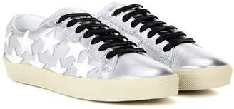 Saint Laurent SL/06 Court Classic Sneakers in metallic leather