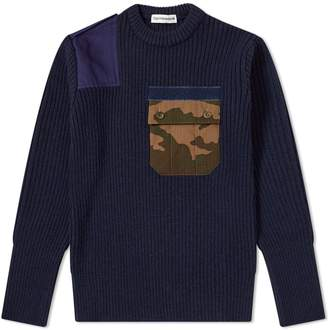 Gosha Rubchinskiy Ribbed Camo Pocket Crew Sweat