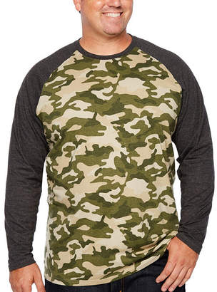 Co THE FOUNDRY SUPPLY The Foundry Big & Tall Supply Mens Crew Neck Long Sleeve T-Shirt-Big and Tall