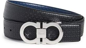 Salvatore Ferragamo Adjustable And Reversible Gancini Belt