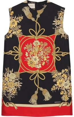 Gucci Tunic top with flowers and tassels