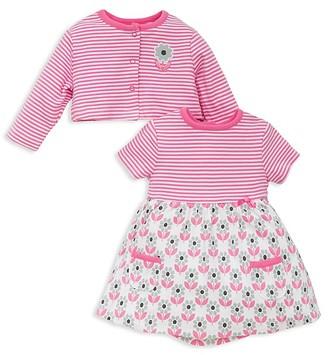 Offspring Girls' Floral Bodysuit Dress & Cardigan Set - Baby $30 thestylecure.com