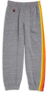 Aviator Nation Toddler, Little and Big Boy's Five-Stripe Bolt Sweatpants