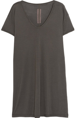 Rick Owens - Oversized Jersey T-shirt - Gray $360 thestylecure.com
