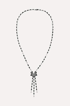 Stephen Webster Cascade 18-karat White Gold, Enamel, Spinel And Diamond Necklace - one size