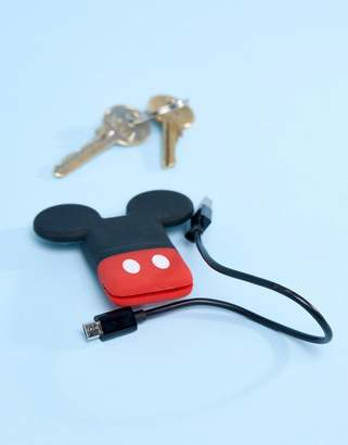 Tribe Disney Mickey Mouse Mini Keychain USB Charge Cable