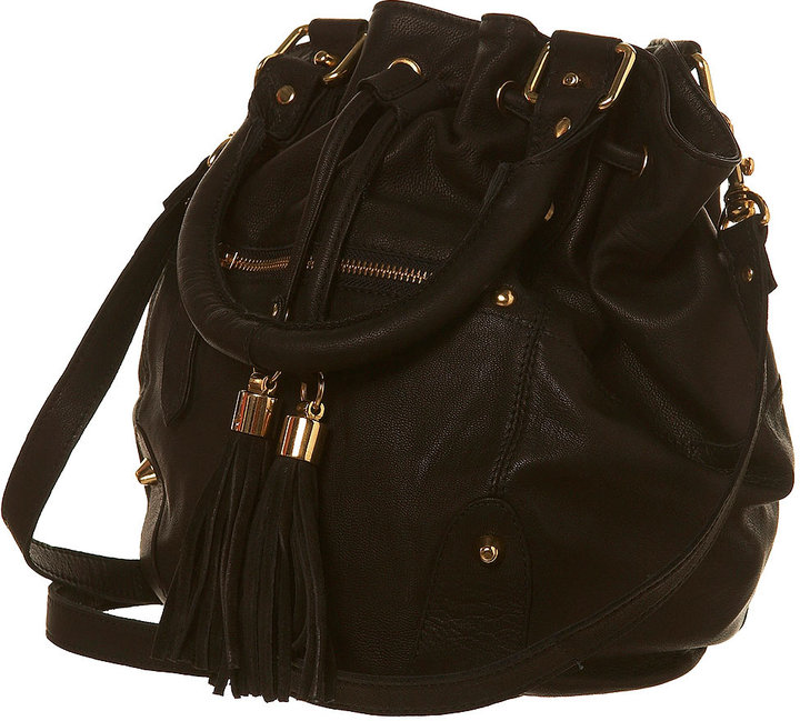 Leather Barrel Cross Body Bag