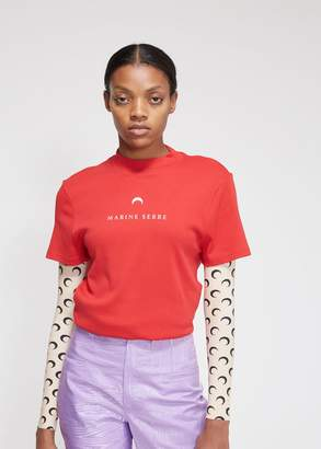 Marine Serre Short Sleeve Graphic T-Shirt