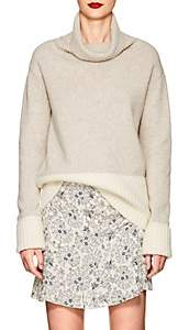 Derek Lam 10 Crosby Women's Colorblocked Wool-Blend Turtleneck Sweater-White