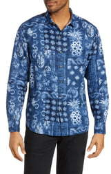 Tommy Bahama Pina Shibori Classic Fit Linen Shirt