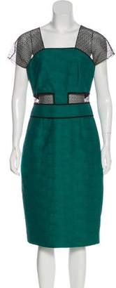 Lela Rose Silk Sheath Dress