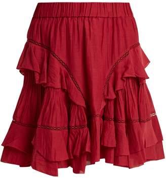 Etoile Isabel Marant Varese ruffled cotton-blend mini skirt