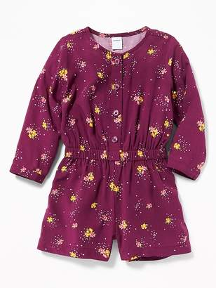 Old Navy Cinched-Waist Button-Front Romper for Baby