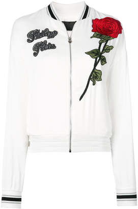 Philipp Plein rose zipped cardigan