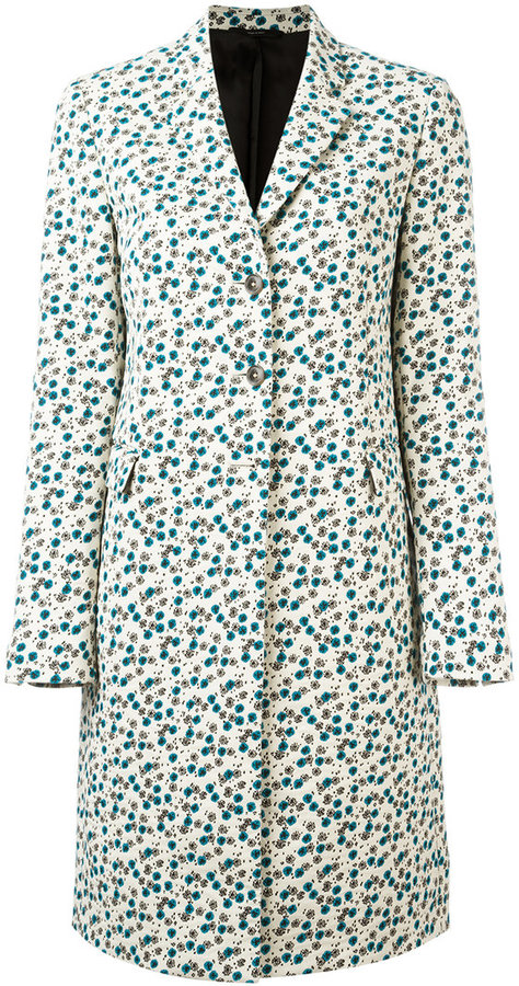 Paul Smith - floral print coat - women - Cotton/Polyamide/Polyester/Cupro - 42