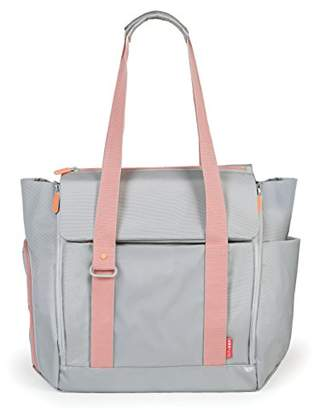 Skip Hop Fit All Access Diaper Tote (Platinum/Coral)