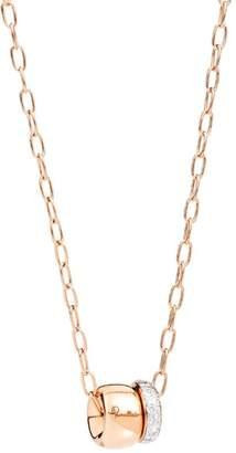 Pomellato Rose Gold and Pavé Diamond Necklace