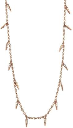 Sydney Evan Diamond Pavé Fringe Necklace - Rose Gold
