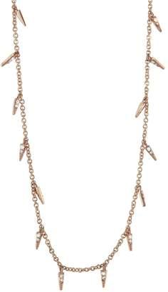 Sydney Evan Diamond Pavé Fringe Necklace - Rose Gold
