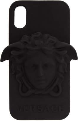 Versace Black 3D Medusa iPhone X Case