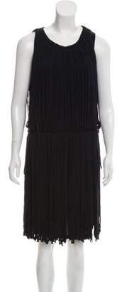 Lanvin Sleeveless Fringe Dress