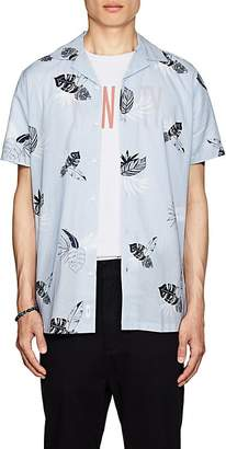 Onia Men's Leaf-Print Cotton Camp Shirt