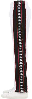 Kappa Track Pants W/ Snap Button Side Bands