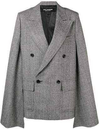 Junya Watanabe extra-long sleeved oversized checked jacket